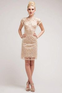 P.R.I.M.A. Glitz By Kari Chang Cream 17-1928 Soutache Art Deco Cocktail Dress