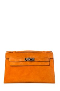 Hermès Orange Clutch