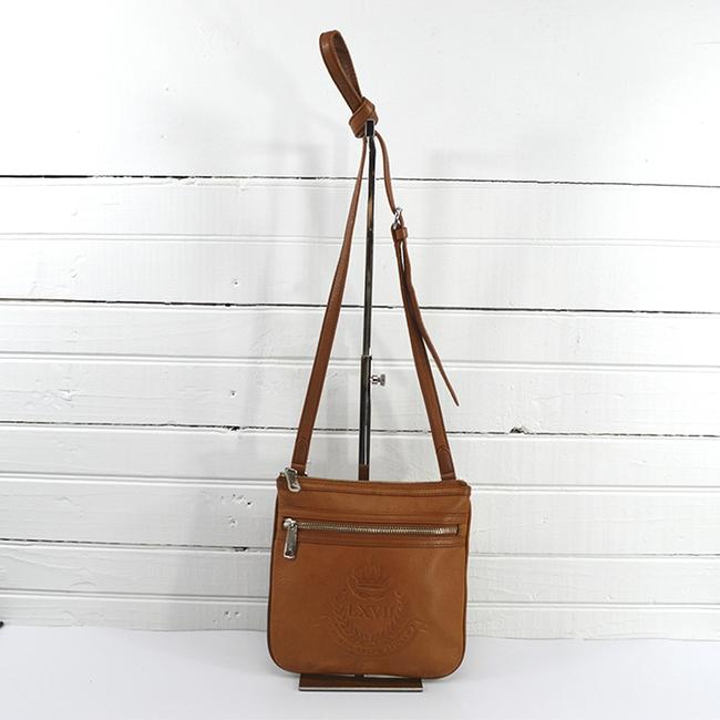 Item - #109-3 Luggage/ Silver Leather Cross Body Bag