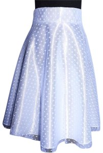Lisa Nieves Formal Prom Casual Spring Evening Skirt white
