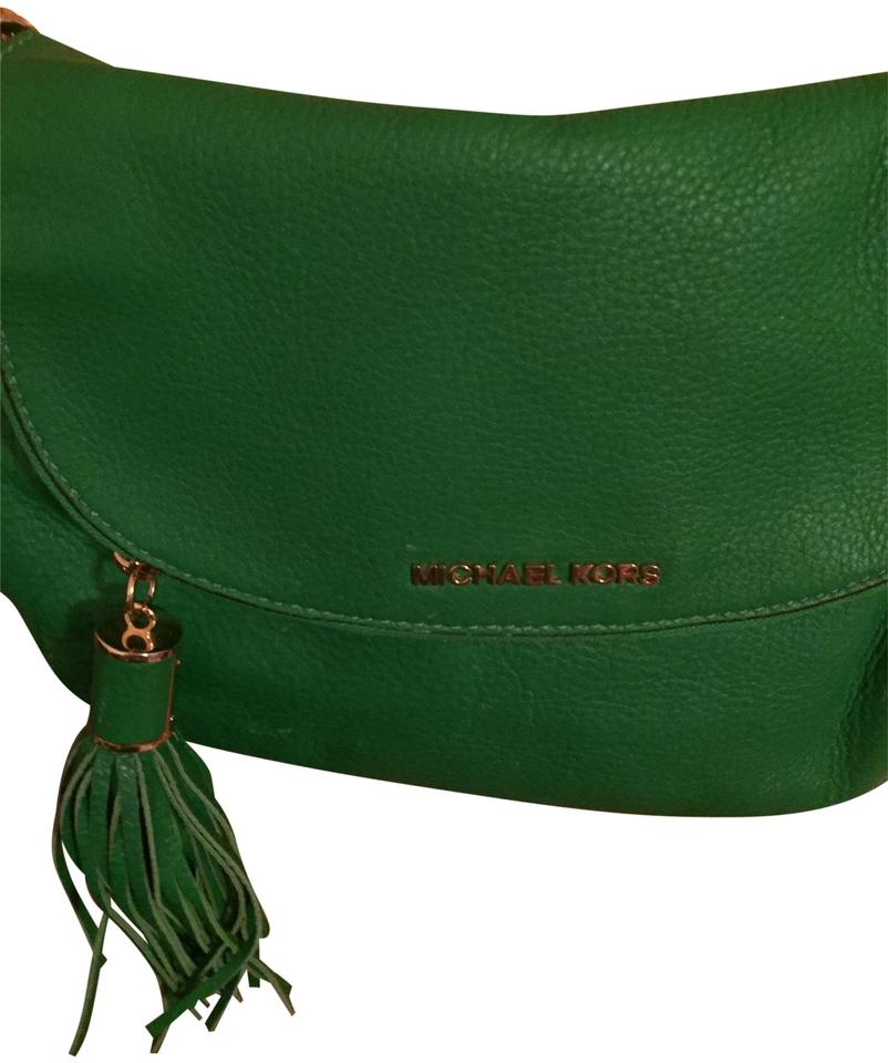 dd8d926e5c Michael Kors Green Leather Shoulder Bag - Tradesy