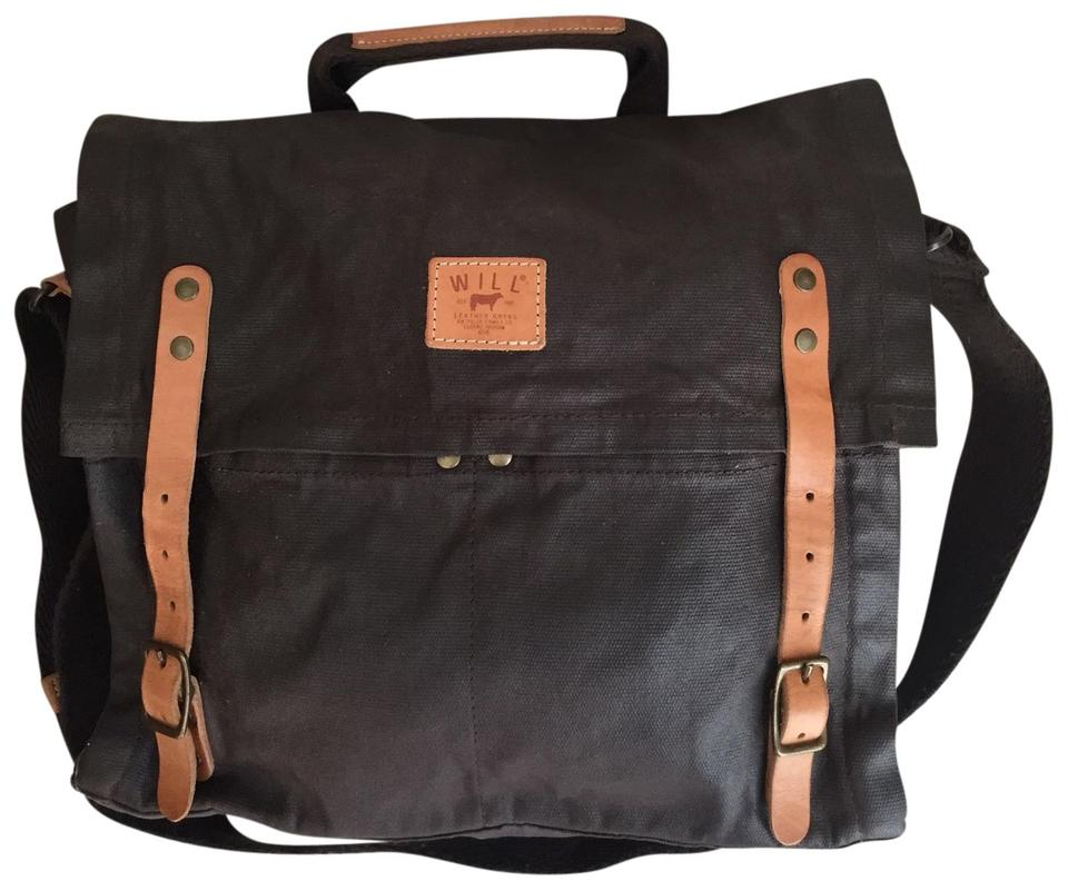 Will Leather Goods Canvas And Brown Cross Body Bag