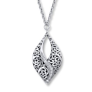 Lois Hill Lois Hill Necklace 1/3 ct tw Diamonds Sterling Silver