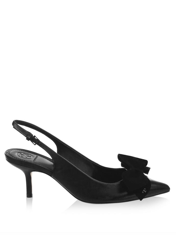 aa2f94f9f3d Tory Burch Black Rosalind Slingback Pumps Size US 8 Regular (M