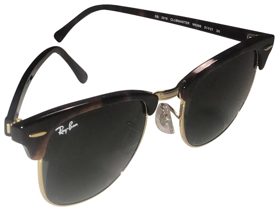 79dce11353 Ray-Ban Tortioise Green Classic Clubmaster Sunglasses - Tradesy