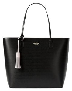 Kate Spade On Purpose Leather Patches Uvru0147 Shoulder Tote in black