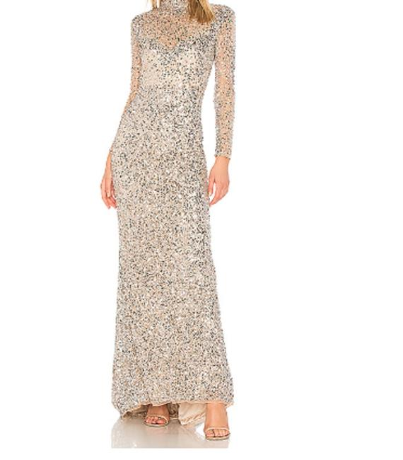 Item - Silver Leandra Sequin Gown Long Formal Dress Size 0 (XS)