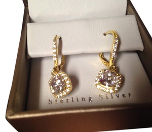 Sterling gold tone earing