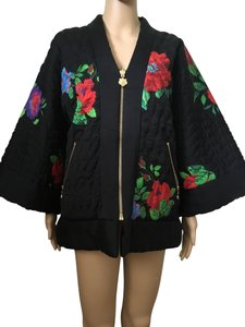 Kenzo x H&M Reversible Quilted Silk Kimono Multi Jacket