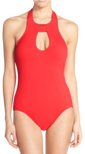 SeaFolly Seafolly red Keyhole Halter One-Piece Swimsuit