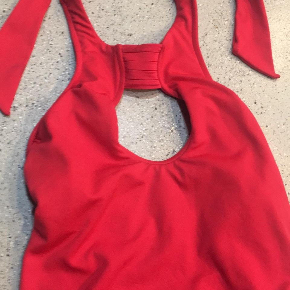 923eba6f2cd SeaFolly Seafolly red Keyhole Halter One-Piece Swimsuit Image 9. 12345678910