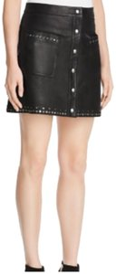 Rebecca Minkoff Mini Skirt black with silver studs