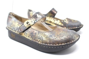 Alegria by PG Lite Paloma Mary Gray/Gold Mules