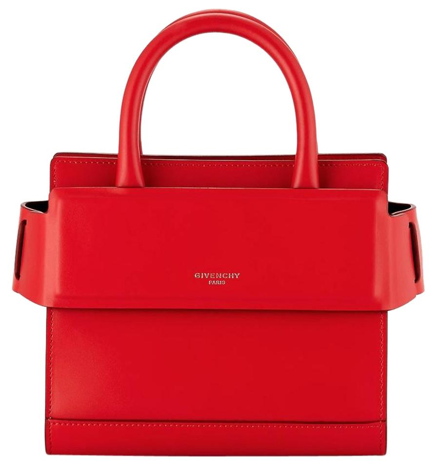 dc8a1387fb Givenchy Horizon Mini Crossbody Handle Satchel Tote Red Calfskin ...