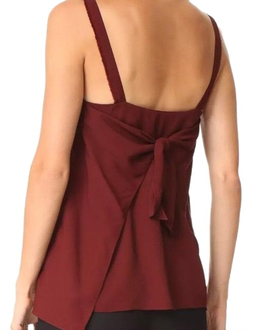 Item - Wine Back Tie Closure Tank Top/Cami Size 0 (XS)