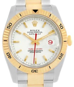 Rolex Rolex Datejust Turnograph 36 Steel Yellow Gold Mens Watch 116263