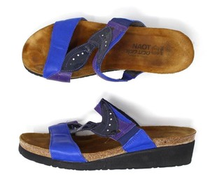 Naot Wedges Wedge Purple/Blue Sandals