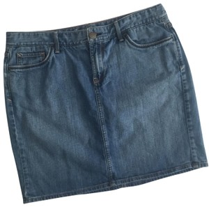 Eddie Bauer Skirt Blue Jean, Denim