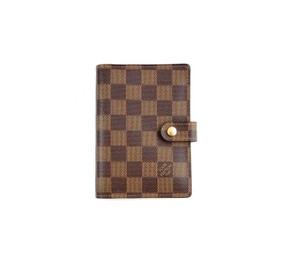 Louis Vuitton Agenda PM Damier Ebene Canvas Leather Notebook Planner Cover