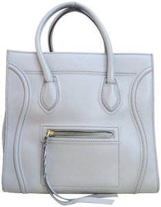 Céline Cabas Phantom Calfskin Satchel in grey