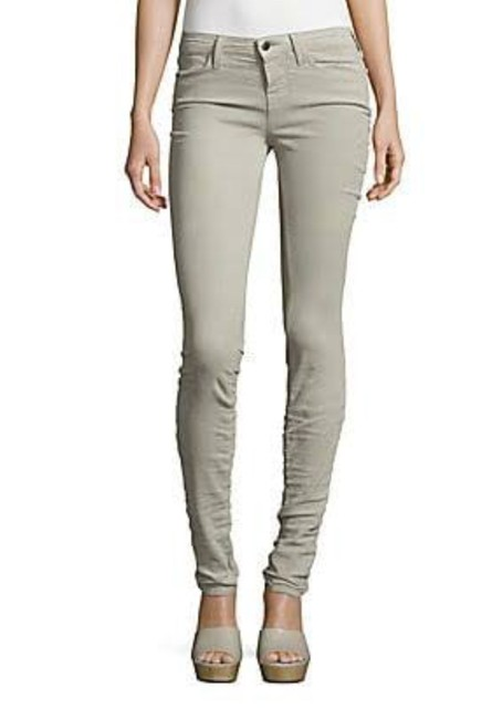 "Item - Silver Dust Mid-rise ""Stacked"" Lightweight Corduroy Super Skinny Jeans Size 23 (00, XXS)"