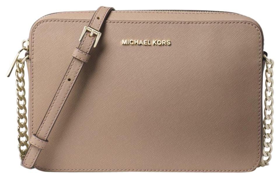 0a3732199d04 Michael Kors Jet Set Large Saffiano 32t8tf5c4l Truffle Leather Cross ...