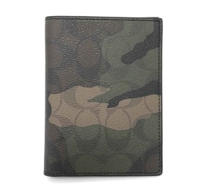Coach Coach Men's Passport Case Holder Signature Camouflage