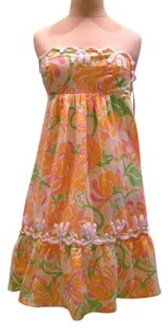 Lilly Pulitzer short dress Yellow, orange, green on Tradesy