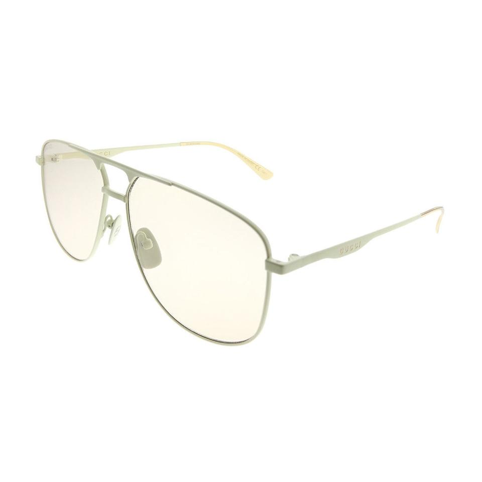 2744aebe058 Gucci New Authentic Gucci GG0336S 006 Ivory Metal Aviator Sunglasses Pink  Le Image 0 ...