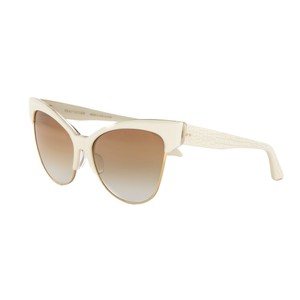 Dita NEW Dita Temptation 18K Gold Ivory Cat Eye Sunglasses