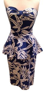 Betsey Johnson short dress Navy, white on Tradesy