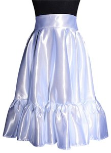 Lisa Nieves Formal Ruffle Prom Maxi Skirt white