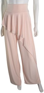 Lisa Nieves Palazzo Stretch Casual Wide Leg Pants light pink