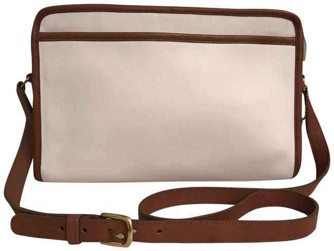 Item - Swagger New Rare Color Large Vintage 026 White Brown Leather Messenger Bag