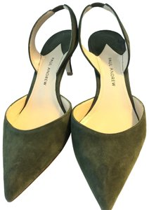 Paul Andrew Olive green Pumps