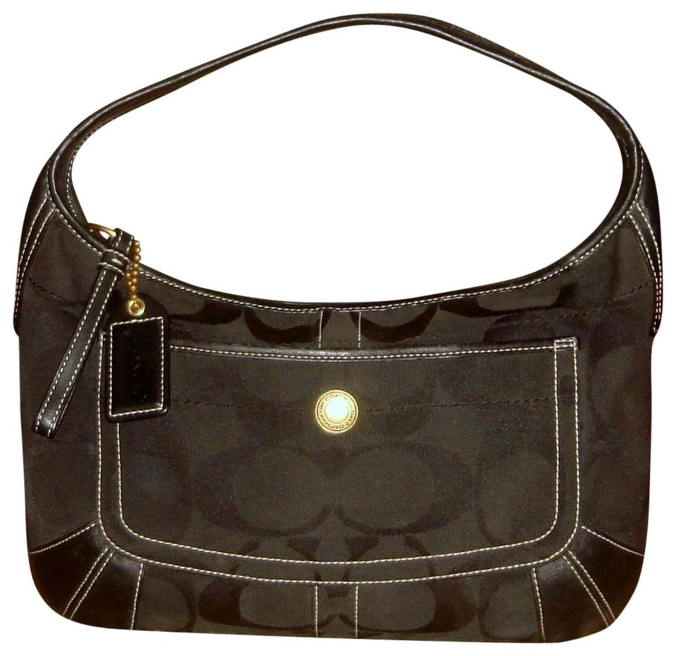 f6cebfd27010 Coach leather signature ergo handbag black jacquard hobo bag tradesy jpg  960x932 Coach black hobo bag