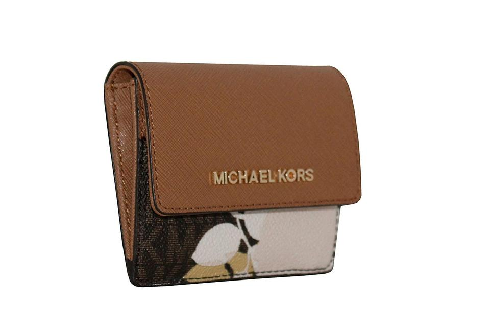f155a37fc669f4 Michael Kors Michael Kors Women's Jet Set Travel Card Case ID Key Holder  Wallet Image 0 ...