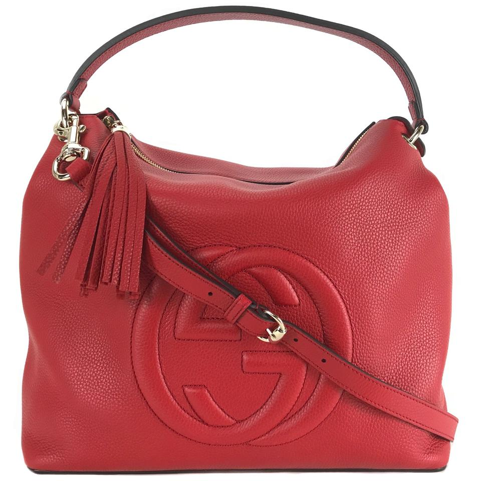 663325c398c Gucci Soho 536194 Shoulder Red Leather Hobo Bag - Tradesy