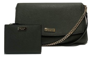 Kate Spade Olive Leather Crossbody Shoulder Fall Evergreen Clutch