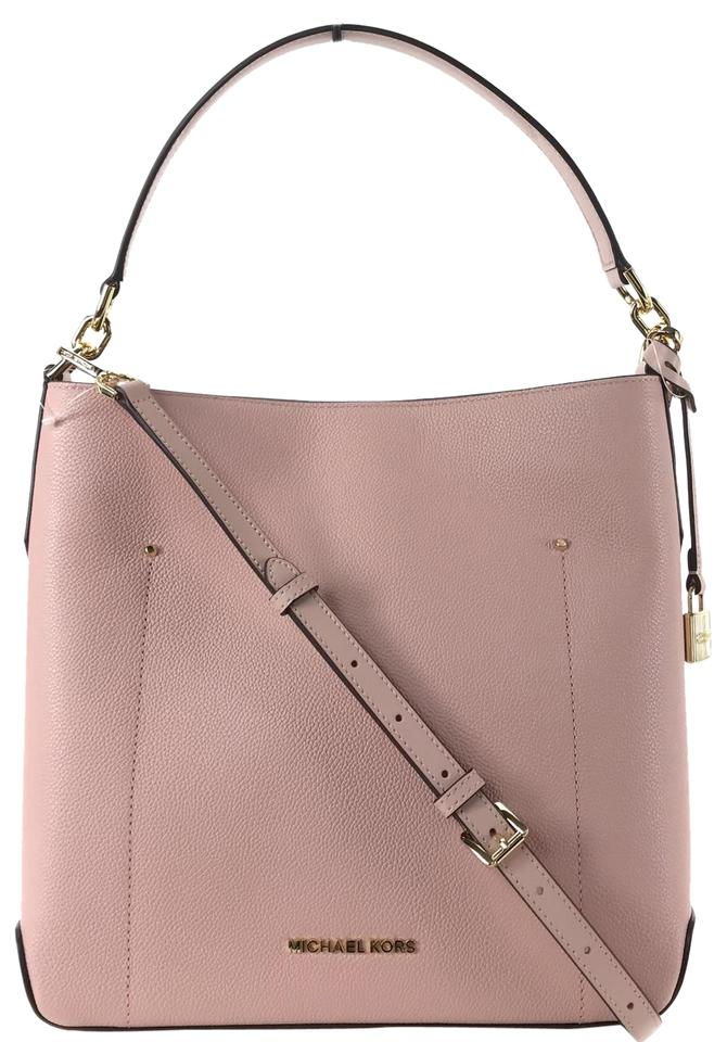 6627690e9323 Michael Kors Bucket Hayes Large Pink Leather Shoulder Bag - Tradesy