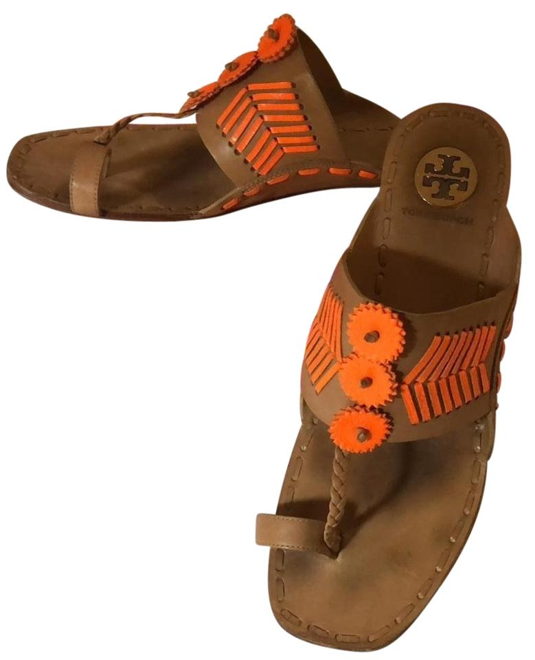 5d7a0532804a Tory Burch Neon Orange Fresh Tan Caylan 12096612 Sandals. Size  US 8.5  Regular (M ...