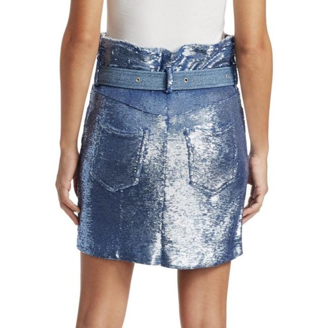 IRO Mini Skirt Blue Sequin Image 2