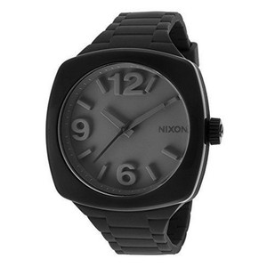 Nixon A265000 Unisex Black Rubber Band With Black Analog Dial Watch