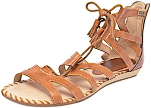 PIKOLINOS Lace Up Gladiator Rear Zip Brown Sandals