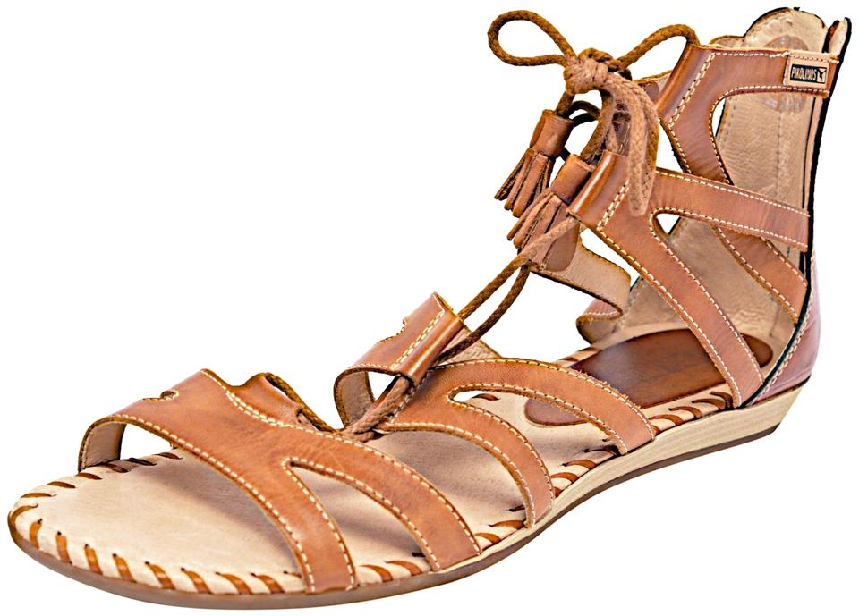 PIKOLINOS Brown Chestnut Leather Lace Up Gladiator W Rear Zip ... 7e76a5b4d