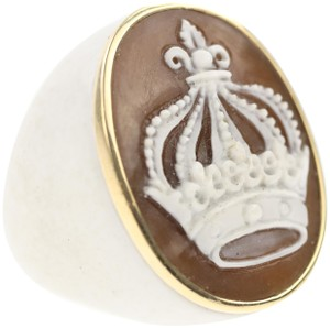 AMEDEO Amedeo Crown Agate Ring