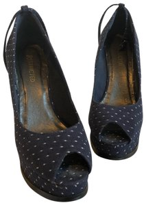 Restricted Blue w/ White Polka Dots Wedges