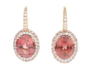 Norman Covan Norman Covan Pink Tourmaline and Diamond Earrings