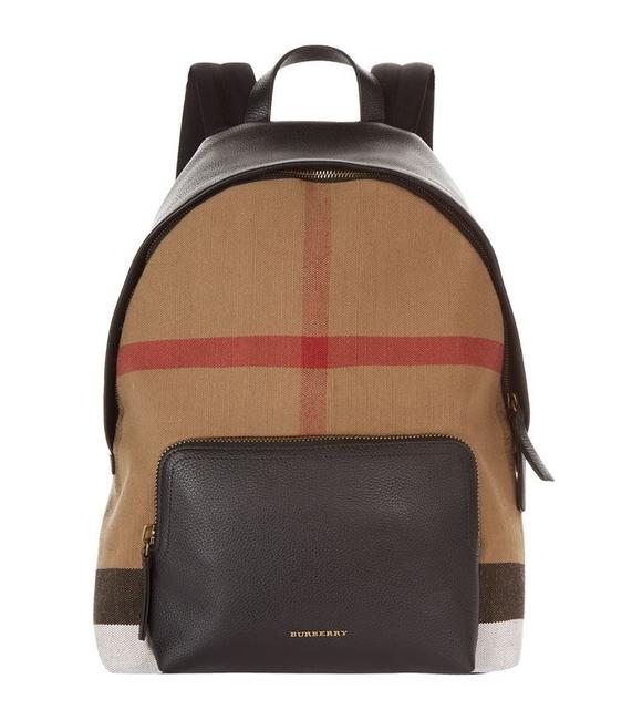 Item - Abbeydale Canvas Leather Black Backpack