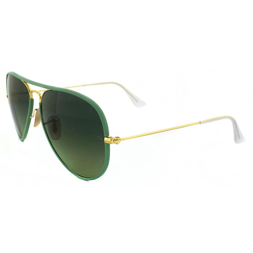 Ray-Ban Green   Gold Aviator Style Unisex Rb3025jm 001 3m Gradient ... 1f2725ea199ee